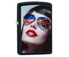 Zippo 60.002.317 Feuerzeug Reflective Sunglasses Collection Spring 2016, schwarz Matte