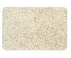 Spirella Badteppich Badematte Duschvorleger Mikrofaser Hochflor | flauschig | rutschhemmend | geeignet für Fußbodenheizung | 70x120 cm | Beige Sand