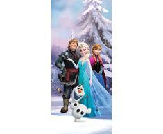 AG Design FTDv 1835 Disney Frozen Die Eiskönigin, Papier Fototapete Kinderzimmer - 90x202 cm - 1 Teil, Papier, multicolor, 0,1 x 90 x 202 cm
