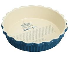 Kitchen Craft Home Made KCHMPIE22 Kuchenform, rund, extra groß, 26,5 x 6 cm, Beige/blau