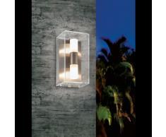 EGLO 92342 Außenwandleuchte, Glas, G9, transparent