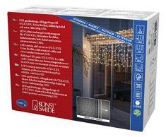 Konstsmide 4731-112 Maxi LED Kompakt System Erweiterung: Lichtervorhang / für Außen (IP67) / 104 warm weiße Dioden / weißes Softkabel