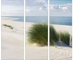 Pro-Art gla580c-dt Wandbild Glas-Art Seaside Idyll, 3x 30 x 80 cm