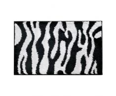 InterDesign 16910EU Zebra Teppich, 86 x 53 cm, schwarz / weiß