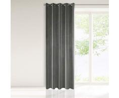 Eurofirany Vorhang, Graphit, Grau, 140x250 cm