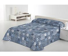SABANALIA Rustik Tagesdecke Feine Dekoration, Blau, Bett 200-300 x 280 cm