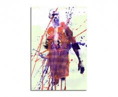 Paul Sinus Art Michael-Jordan_90x60-SA Wandbild Leinwand, 90 x 50 x 3 cm, mehrfarbig