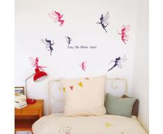 Violette & Lila Feen Kinder Kinderzimmer Wand Sticker Aufkleber Heim Dekoration