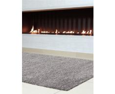 Benuta Hochflorteppich Swirls Shaggy Langflor Grau 120x170 cm Kunstfaser schadstofffrei