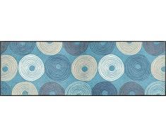wash+dry Fußmatte Cyclone, 60x180 cm, innen, waschbar, blau