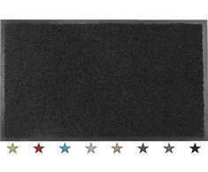 oKu-Tex Eco-Clean Schmutzfangmatte, Fußmatte, Läufer, rutschfest & waschbar, recycelt, für innen, schwarz, 90 x 120 cm