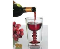 Elicuisine Weinglas, doppelwandig,15x5x6cm, Weiß, 13002