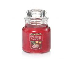 Yankee Candle Classic Housewarmer Klein, Red Apple Wreath, Duftkerze, Raum Duft im Glas / Jar, 1120699