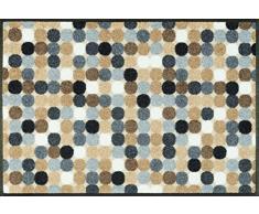 wash + dry 075868 Fußmatte Mikado Dots nature, 50 x 75 cm
