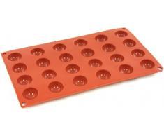 World Cuisine Silikonform mit Antihaftbeschichtung Hemisphäre, 2,9 cm (1,13 Zoll) rot