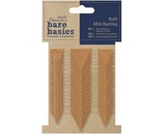 Papermania Bare Basics Kraft Mini Dreiecke Wimpelkette, braun