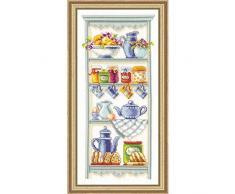 Vervaco PN-0021710 Zählmusterpackung Romatisches Küchenregal aida