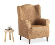 Bartali Stretch Husse für Ohrensessel Aitana - Farbe Beige - 1 Sitzer (von 70 bis 110 cm)