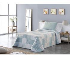 VIALMAN Tagesdecke, Blau, 90 cm breites Bett: 180 cm x 270 cm