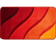 Grund Badteppich 100% Polyacryl, ultra soft, rutschfest, ÖKO-TEX-zertifiziert, 5 Jahre Garantie, DUNA, Badematte 70x120 cm, orange
