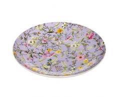 Maxwell & Williams Kilburn Winter Bloom, 20 cm, Geschenkbox, Porzellan, WK11520 Teller, lila, bunt 20 x 20 x 2 cm