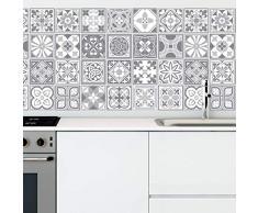 Walplus wt1531 -purbeck Stein Fliesen Wand stickers-15 cm x 15 CM-24 Stück ..., gemischt, 15cmx15cmx0.02cm