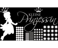 Graz Design 770092_100x57_010 Wandtattoo Set Kinderzimmer Mädchen Sterne Spruch kleine Prinzessin 100x57cm Weiss