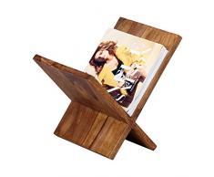 WOHNLING Zeitungsständer Massivholz Sheesham X-Form 31 cm Zeitschriften-Ständer Design Prospekt-Halter Landhaus-Stil Holz-Regal Natur-Produkt Wohnzimmer-Regal Buch-Ablage Echtholz Ablagefach Unikat
