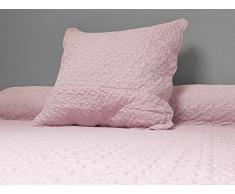 Soleil docre 371004 Tagesdecke Uni rosa 180x220 cm + 1 Kissenbezug