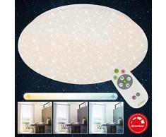 Briloner Leuchten LED Deckenleuchte dimmbar, inkl. Fernbedienung, Farbtemperatursteuerung, Deckenlampe, 1300 Lumen, Ø 29.3 cm, 15 W, Weiß
