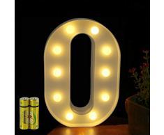 Funrui Markisen-LED-Lichterkette mit 26 Alphabet-Lichtern, beleuchtet, für Schlafzimmer, Nachtlicht, Hochzeit, Geburtstag, Party, Festival, Valentinstag, batteriebetrieben, Dekoration für Zuhause, Bar-Dekoration O