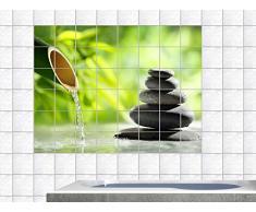 Graz Design 761739_15x15_70 Fliesenaufkleber Fliesen Folie Bad Küche Fliesensticker Wellness Bambus Entspannung WC Badezimmer Fliesengröße 15x15cm (Anzahl Fliesen = 7 breit und 5 hoch)