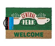 Pyramid International Door Mat Friends (Central Perk) Fussmatte, Coconut with Rubber Bottom, Mehrfarbig, 60 x 1.5 x 40 cm