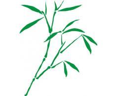 INDIGOS 4051095041719 Wandtattoo w335 Schilf Gras Wandauskleber in 3 Größen, 120 x 97 cm, grün
