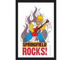 empireposter - Simpsons, The - Homer Rock - Größe (cm), ca. 20x30 - Bedruckter Spiegel, NEU - Beschreibung: - Bedruckter Wandspiegel mit schwarzem Kunststoffrahmen in Holzoptik -