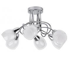 RABALUX Deckenleuchte, Glas, E14, Silber