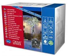 Konstsmide 3611-200 Micro LED Lichterkette / für Außen (IP44) / 24V Außentrafo / 80 kalt weiße Dioden / schwarzes Kabel