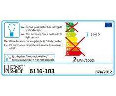 Konstsmide 6116-103 LED Lichtervorhang mit 3 Acrylschneeflocken / für Innen (IP20) / VDE geprüft / 24V Innentrafo / 15 warm weiße Dioden / transparentes Kabel