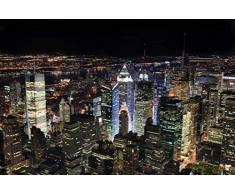 Innova FP05464 Glasbild New York City bei Nacht, 50 x 70Â cm