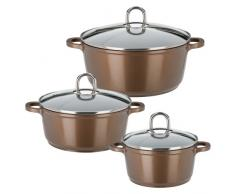 GSW 509008 Gourmet Premium Color Topf-Set, 3-teilig, Bronze