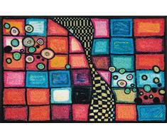 Wash+Dry Fußmatte, Acryl, Bunt, 75x120 cm
