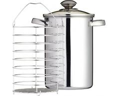 Kitchen Craft Clearview Spargeltopf aus Edelstahl, 3 l
