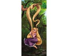 AG Design FTDv 0233 Rapunzel Disney Prinzessin, Papier Fototapete Kinderzimmer - 90x202 cm - 1 Teil, Papier, multicolor, 0,1 x 90 x 202 cm