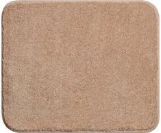 Linea Due Badteppich 100% Polyacryl, ultra soft, rutschfest, ÖKO-TEX-zertifiziert, 5 Jahre Garantie, FANTASTIC, WC-Vorlage o.A. 50x60 cm, beige