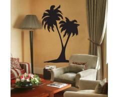 INDIGOS WG10362-70 Wandtattoo W362 Palmen Baum Pflanze Wandaufkleber 80 x 52 cm, schwarz