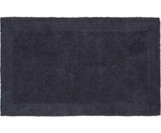 Grund organisch & beidseitig verwendbar Badteppich 100% Bio-Baumwolle, ultra soft, ÖKO-TEX-zertifiziert, 5 Jahre Garantie, LUXOR, Badematte 80x150 cm, anthrazit