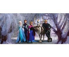 AG Design FTDh 0647 Disney Frozen Die Eiskönigin, Papier Fototapete Kinderzimmer - 202x90 cm - 1 Teil, Papier, multicolor, 0,1 x 202 x 90 cm