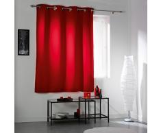 Douceur DIntérieur - 1604451, Vorhang Mit Osen , 140 X 180 Cm , Cocoon , Verdunkelungsvorhang Unifarben , Rot