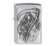 Zippo 200 Reapers Curse Emblem Feuerzeug, Messing