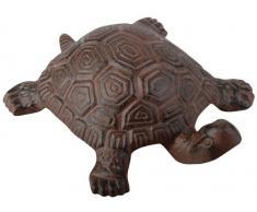 Esschert Design Gartenfigur, Skulptur Motiv Schildröte aus Gusseisen in braun, Größe L, ca. 19 cm x 15 cm x 5,6 cm